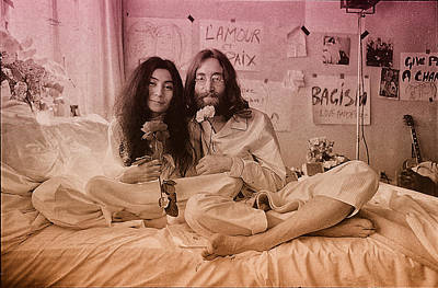 Ringo Starr Photograph - John Lennon And Yoko Ono Peace by Hans Wolfgang Muller Leg