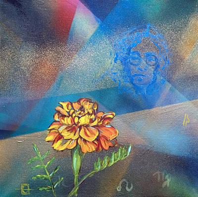 Painting - John Lennon Birth Chart by Andrea LaHue