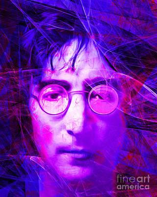 Music Digital Art - John Lennon Imagine 20160521 V2 by Wingsdomain Art and Photography