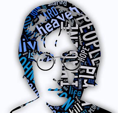 Beatles Mixed Media - John Lennon Imagine by Marvin Blaine
