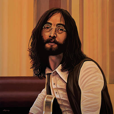 Abbey Painting - John Lennon Imagine by Paul Meijering