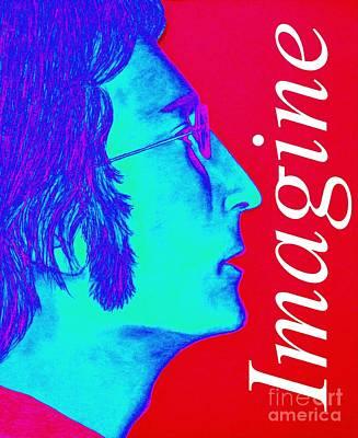 John Lennon Drawing - Imagine John Lennon In Profile by Tania Eddingsaas