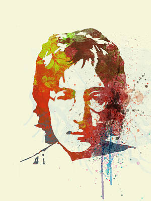 Watercolor Painting - John Lennon by Naxart Studio