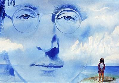 John Lennon Print by Ken Meyer jr