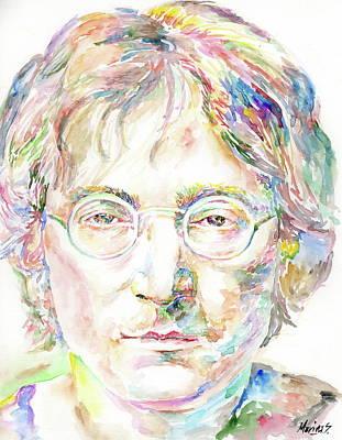 Robert Plant Framed Painting - John Lennon by Marina Sotiriou
