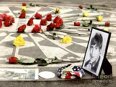 Ringo Starr Photograph - John Lennon Memorial by Nishanth Gopinathan