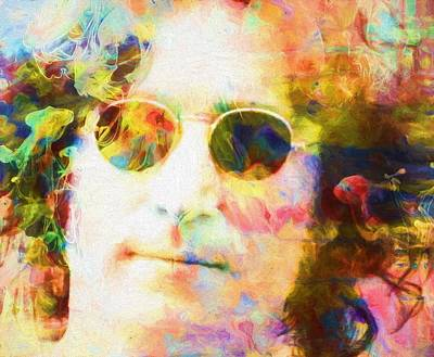 Liverpool Mixed Media - John Lennon One by Dan Sproul