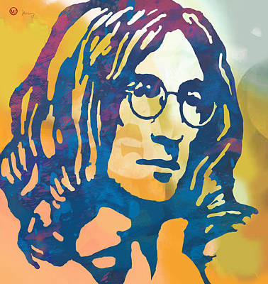 John Lennon Mixed Media - John Lennon Pop Art Poster by Kim Wang