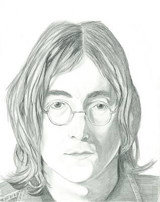 John Lennon Drawing - John Lennon Portrait by Seventh Son