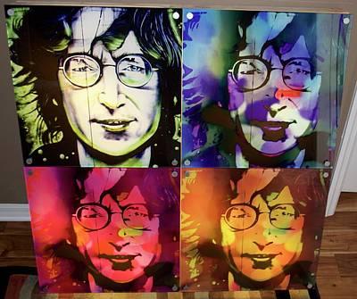 John Lennon Quad Box Original by Mark J Dunn
