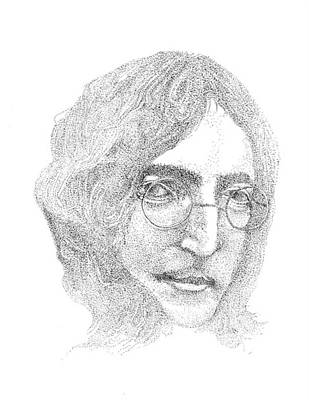 John Lennon Drawing - John Lennon by Terry Adamick