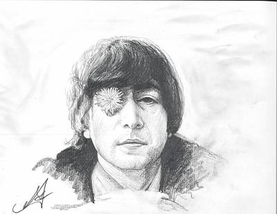 Johnlennon Drawing - John Lennon by Umidjon Amontoshev
