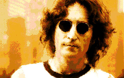 Nyc Mixed Media - John Lennon Watercolor by Enki Art
