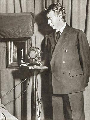 Electronic Drawing - John Logie Baird, 1888 - 1946. Scottish by Vintage Design Pics