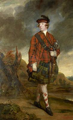 18th Century Painting - John Murray 4th Earl Of Dunmore by Joshua Reynolds