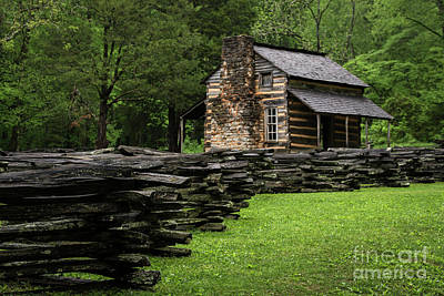 John Oliver Cabin Print by Andrea Silies