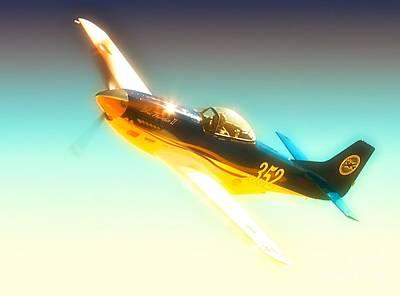 John Parker And Race 352 Blue Thunder II 2010 Reno Air Races Original by Gus McCrea