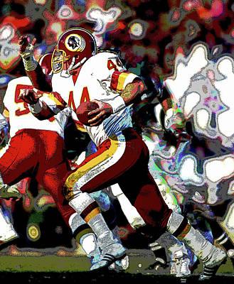 Redskins Mixed Media - John Riggins Washington Redskins by Charles Shoup