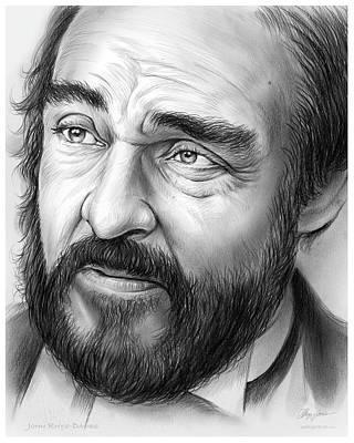 Voice Actor Drawing - John Rys-davies by Greg Joens