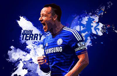 Football Digital Art - John Terry by Semih Yurdabak