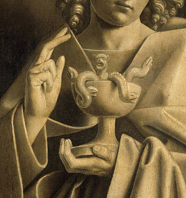 Reptiles Drawing - John The Apostle Detail From The Ghent Altarpiece by Van Eyck
