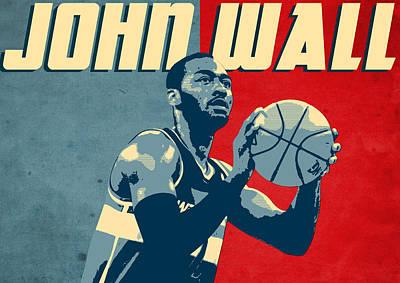 Basketball Digital Art - John Wall by Semih Yurdabak