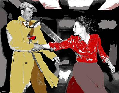 John Wayne Maureen Ohara The Quiet Man 1952-2015 Print by David Lee Guss