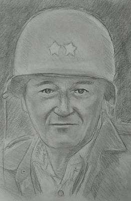 John Wayne Drawing - John Wayne by Paul Blackmore
