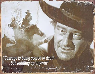 John Wayne - The Duke Print by Donna Kennedy