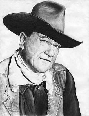 John Wayne Drawing - John Wayne by Travis Herrmann