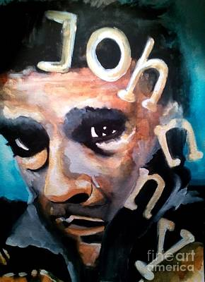 Johnny Cash Print by Chrisann Ellis