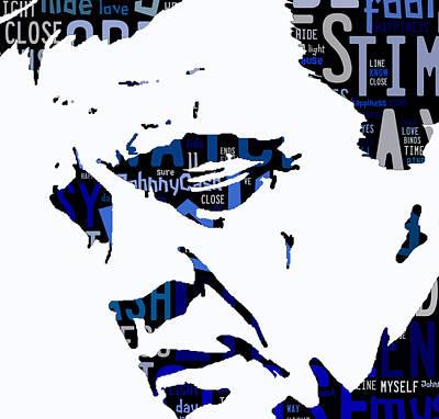 Hip Mixed Media - Johnny Cash I Walk The Line by Marvin Blaine