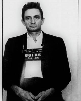 Johnny Cash Mug Shot Vertical Wide 16 By 20 Original by Tony Rubino