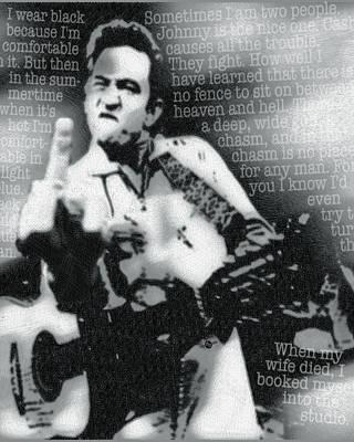Johnny Cash Rebel Vertical Original by Tony Rubino