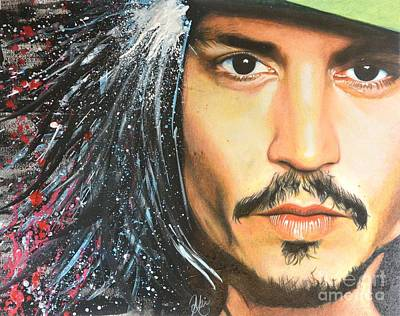 Johnny Depp Painting - Johnny Depp by Aki Nakahira