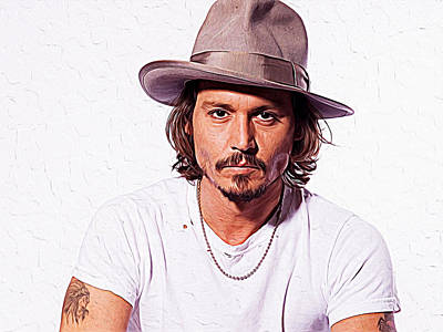 Christian Bale Digital Art - Johnny Depp by Queso Espinosa