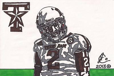 Texas A Drawing - Johnny Manziel 11  by Jeremiah Colley