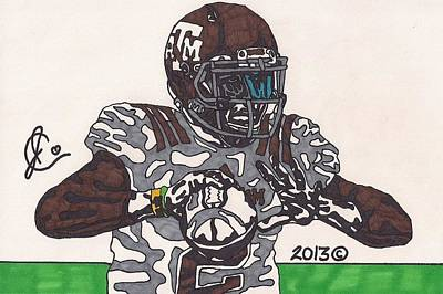 Texas A Drawing - Johnny Manziel 12 by Jeremiah Colley