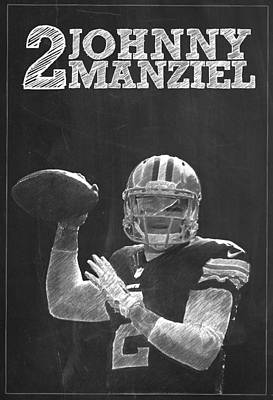 Johnny Manziel Print by Semih Yurdabak