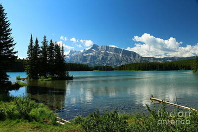 See Fog Photograph - Two Jake Lake View - Banff National Park by Christiane Schulze Art And Photography