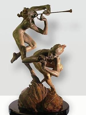 Richard Macdonald Sculpture - Joie De Femme  by Richard MacDonald