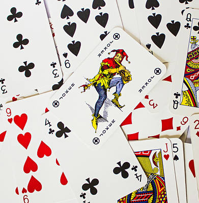 Playing Cards Photograph - Joker In The Pack by Martin Newman