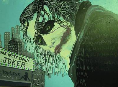 Heath Ledger Painting - Joker by Scott Murphy