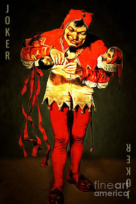 Jester Digital Art - Jokers Wild 20150707text by Wingsdomain Art and Photography
