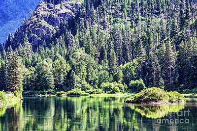Green Photograph - Jolanda Lake by Jean OKeeffe Macro Abundance Art
