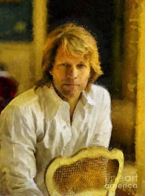 Jon Bon Jovi Painting - Jon Bon Jovi by Elizabeth Coats