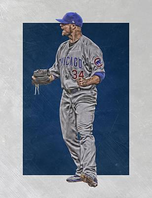 Jon Lester Chicago Cubs Art Print by Joe Hamilton