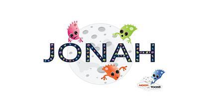 Jonah Digital Art - Jonah And The Moon Toons by Moon Toons