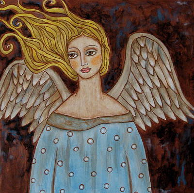 Christian Art . Devotional Art Painting - Jophiel by Rain Ririn