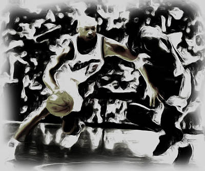 Jordan And Kobe 2b Print by Brian Reaves